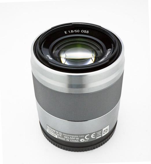Objetiva Lente Sony E 50mm F/1.8 Oss - Impecável