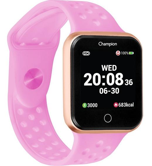 Relogio Smart Watch Champion Ch50006r Dourado/ Rosa