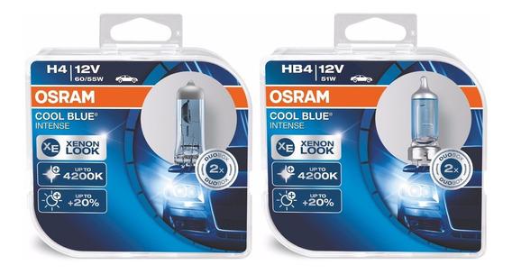 Kit Lâmpadas H4 + Hb4 Osram Cool Blue Intense 4200k Original