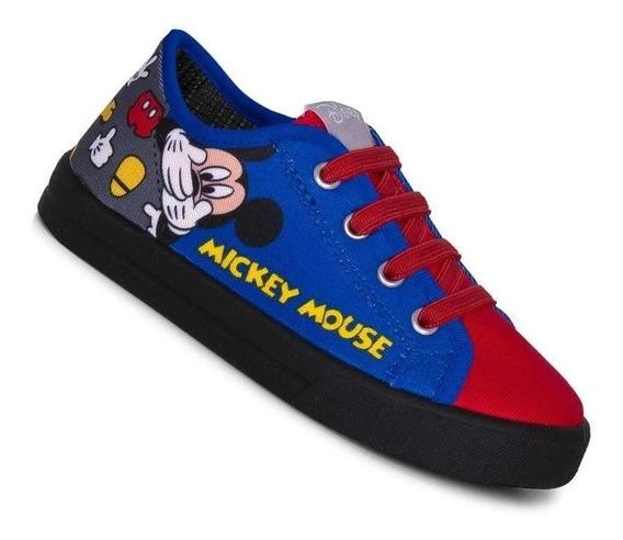 Tênis Infantil Menino Mickey Azul Mouse Disney 24 13