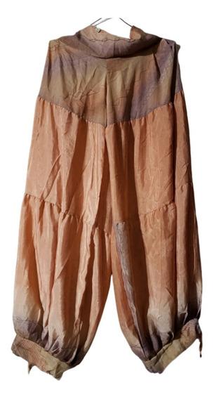 Pantalon Babucha Ancho, De Seda, Talle Unico