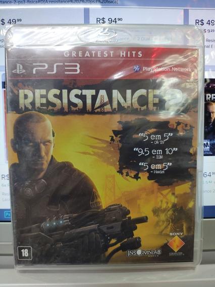 Jogo Resistence 2 Playstation 3, Mídia Física, Lacrado