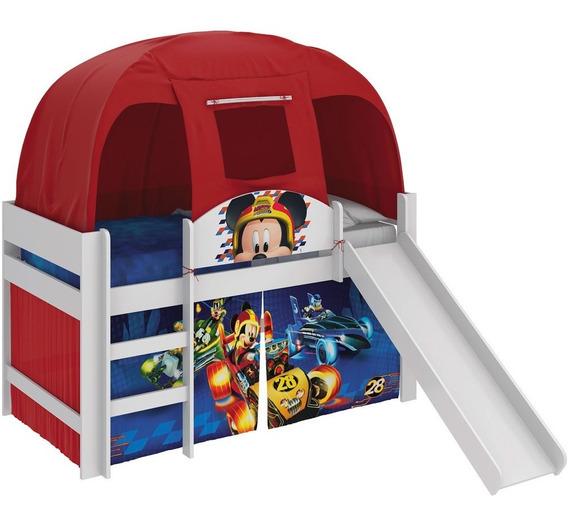 Cama Infantil Mickey Disney Escorrega E Barraca Pura Magia