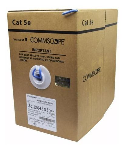 Cable Utp Cat 5e Amp Bobina 305 Metros Interior Puro Cobre