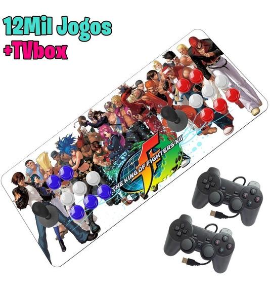 Arcade Fliperama Aegir 12000 Jogos 32gb + 2 Controles Extra