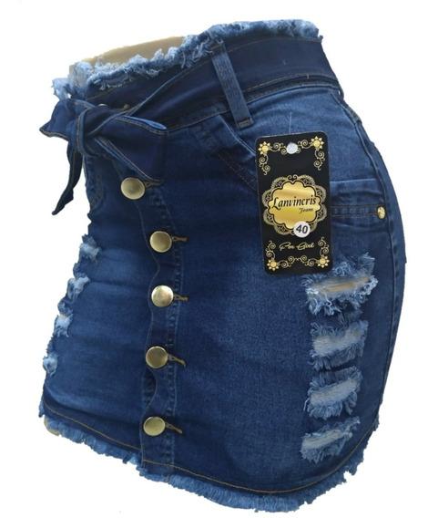 Roupas Femininas Saia Jeans Plus Size Com Lycra 36 / 54 2019
