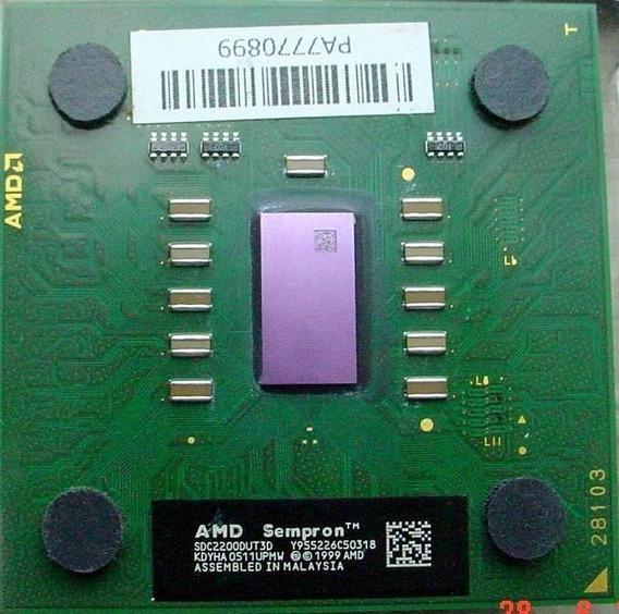 Processador Amd 462 Sempron 2200+ Verde Ou Marrom