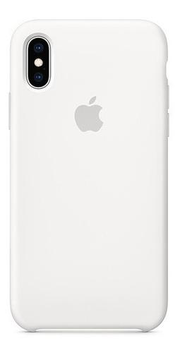 Carcasa Funda Estuche En Silicona Para iPhone XS Max Blanco