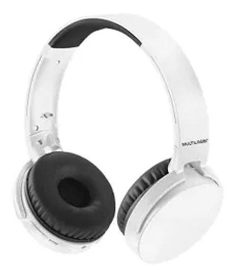 Fone Premium Bluetooth Sd / Aux / Fm Branco Multilaser