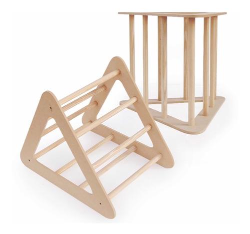 Imagen 1 de 4 de Triángulo Trepador Juego Montessori