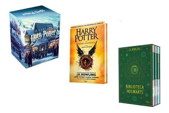 Box Harry Potter Criança Amaldiçoada Biblioteca Hogwarts #