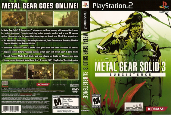 Metal Gear Solid 3: Subsistence - Ps2 - Patch - Pt-br