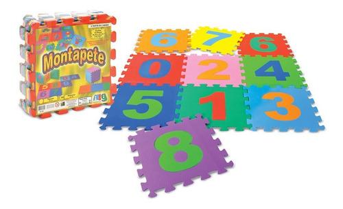Imagem 1 de 1 de Brinquedo Tapete Tatame Infantil Eva Números 10 Placas Nig