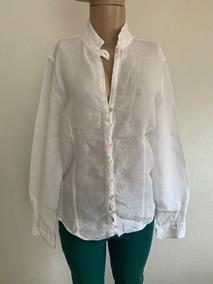 Camisa Social De Linho Branca Richards - Tam 2