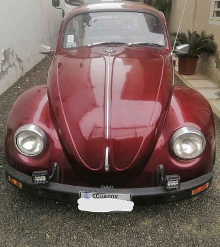 Volkswagen Escarabajo 1600cc Brasilero Color Concho De Vino