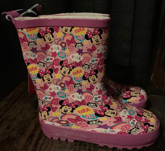 Minnie Mouse Disney Bota De Goma Lluvia Infantil T29 Y T27