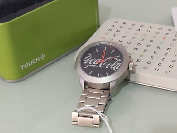 Relógio Touch Coca-cola Masculino Prata