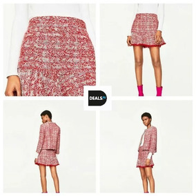 3d88fc586d Falda Minifalda Hilo Zara Talla L Original Mujer Verano
