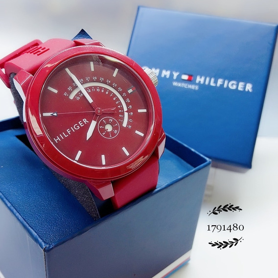 Relógio Tommy Hilfiger 1791480 Silicone Borracha Vermelho
