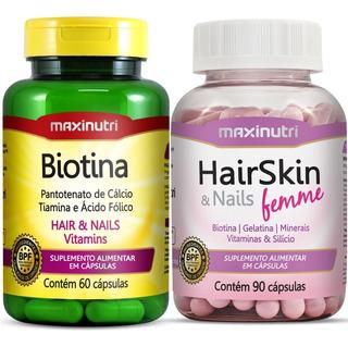 Hair Skin & Nails (cápsula Da Beleza) + Biotina Combo Beleza