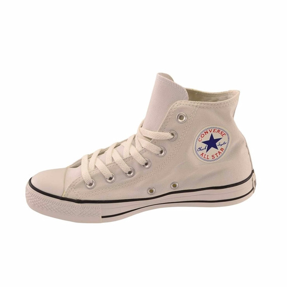 Zapatillas Converse All Star Hi Blanco Con Negro