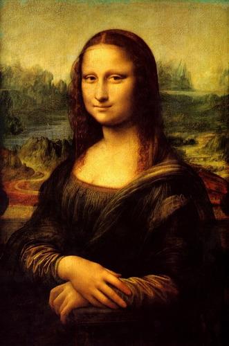 Poster Gravura 60x90cm Da Vinci Mona Lisa Para Decorar Sala
