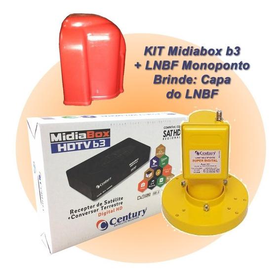 Receptor Digital Midiabox B3 Lnbf Mono Superdigital C/capa