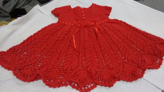 Vestido De Croche Infantil Para 2 Anos Calçados Roupas E