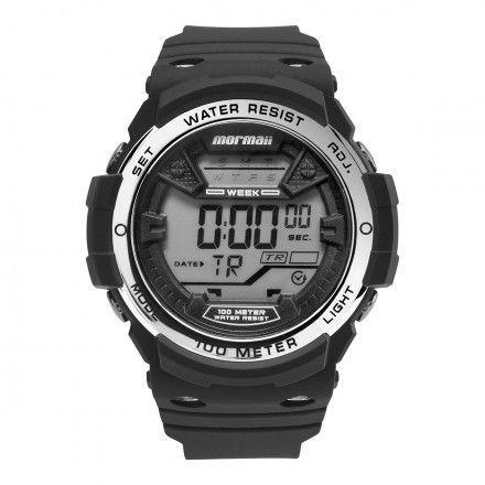 Relógio Mormaii Masculino Preto Com Prata Mo3500b 8k