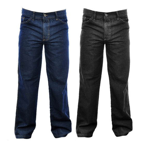 Kit Com 2 Calça Jeans Masculina Perna Larga Trabalho Atacado