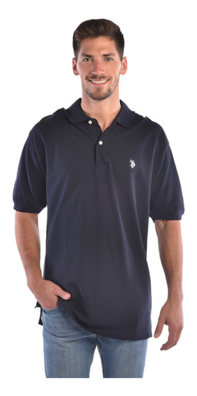 Polo Regular Fit U.s. Polo Azul Uslpm43627b Hombre