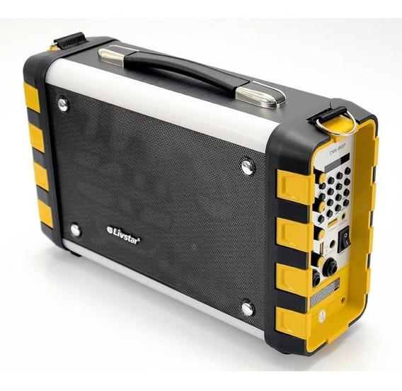Caixa De Som Amplificada Radio Livstar Cnn-89sp Bt Usb Sd