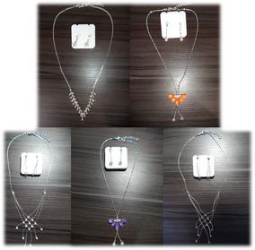 Conjunto De Colar Feminino + Brinco Fashion Jewelry