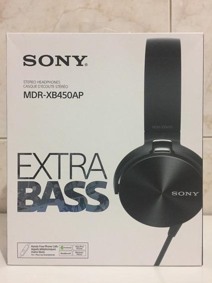 Fone De Ouvido Sony Mdr Xb450ap Extra Bass Preto