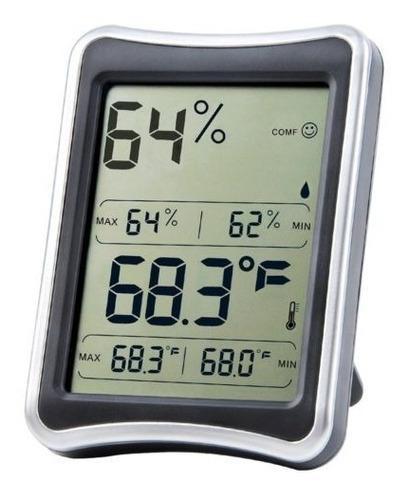 Higrómetro Termómetro Interruptor Humedad Interior Monitor L