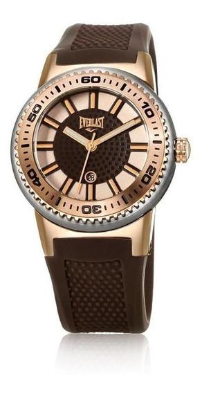 Relógio Pulso Everlast Feminino Silicone Marrom E453