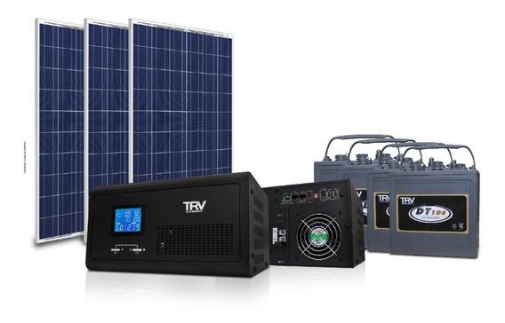 Kit Solar Hogar: Paneles + Inv 24/1600 + Baterias (24 Horas)