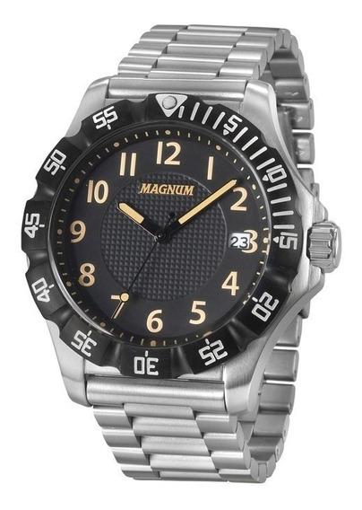 Relógio Magnum Masculino Prateado 2 Anos D Garantia Ma34110t