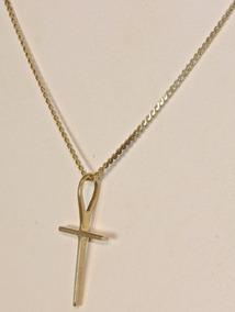 Rsp J5196 Corrente + Crucifixo Ouro 18k 41,5cm Única Do M L