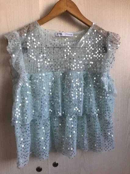 Blusa Zara Impecable, Única!