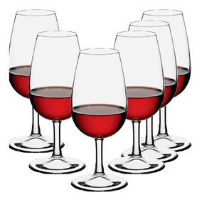 Taça Iso Degustação Vinho 210ml - Vidro Temperado - 6 Peças
