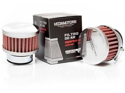 Filtro De Ar Esportivo Vermelho C100 Biz/crypton 33mm Vedamo