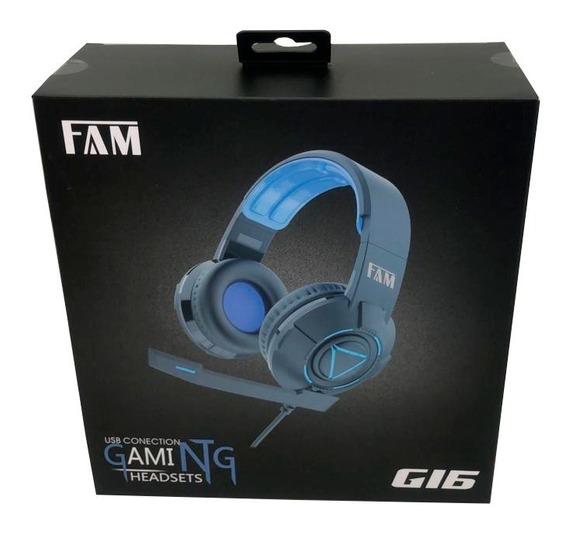 Fone Headset Gamer Usb Black G16 Fam