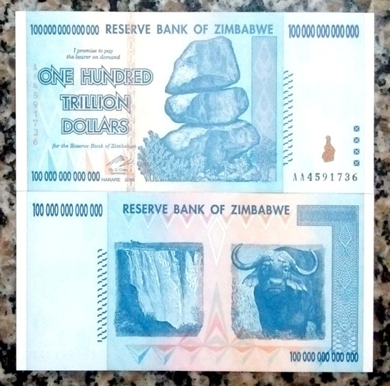 82.116 - Zimbabue - 100 Trilhões De Dollars - 2008 - F E