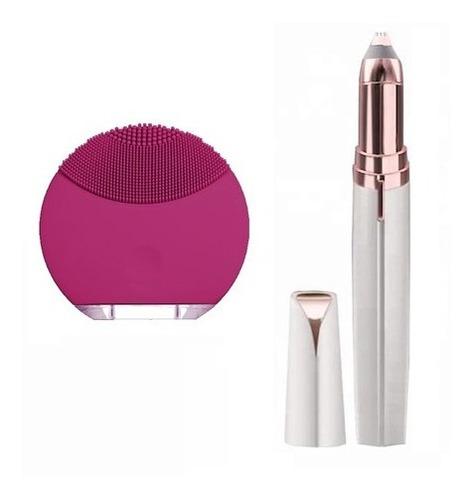 Cepillo Facial Limpia Poros + Depilador Perfila Cejas