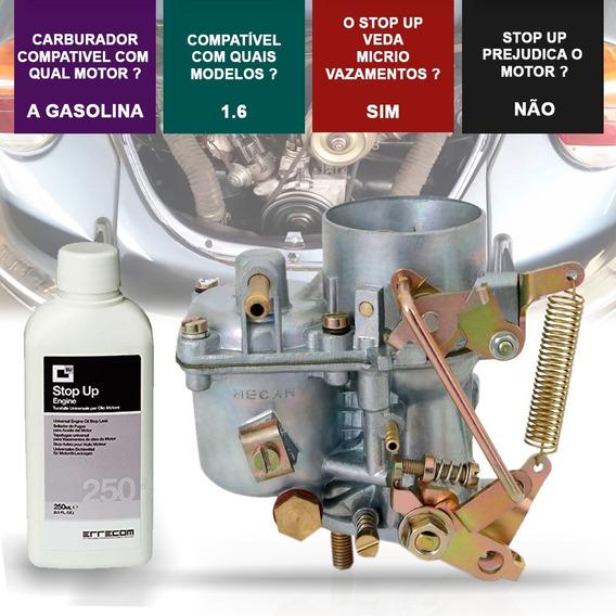Carburador Fusca 63 A 85 Brasilia 73 A 82 Gas 1600 + Stop Up
