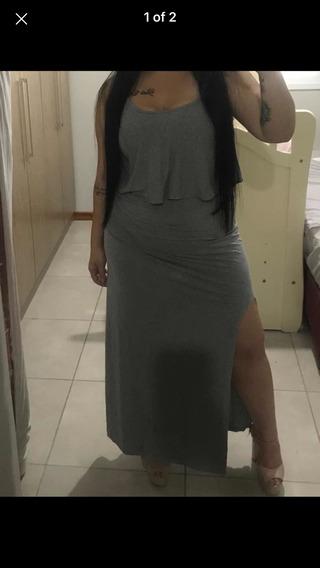 Vestido Longo Com Abertura Do Lado