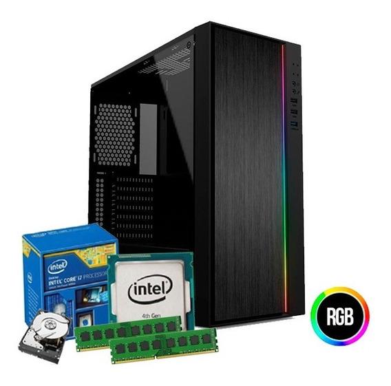 Pc Cpu I7 4770s 4ª Geração 3.90 Ghz, 16gb Ram, Hd 1tb + Nfe