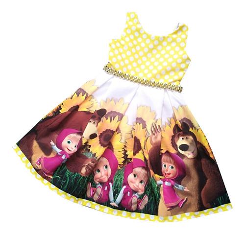 Vestido Cumpleaños Para Niña Masha Y Oso - Ig