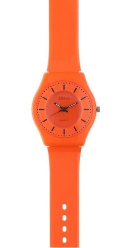 Reloj De Mujer Extra Liviano Color Naranja Marca Status S23g